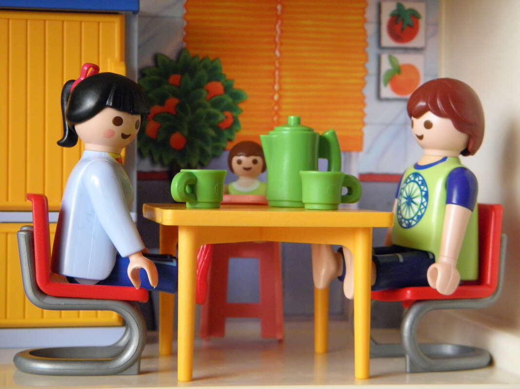 Playmobil dinner party