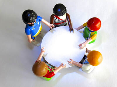 Playmobil roundtable discussion